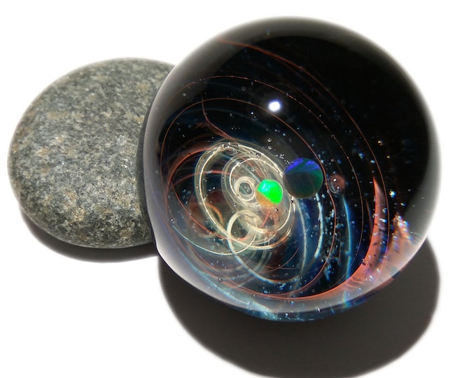 The Newest Galaxy in the Universe - Cosmic Glass Art - Deep Space - Opal Planet - Galaxy in Glass - Blown Glass Decor - Unique Space Gift -