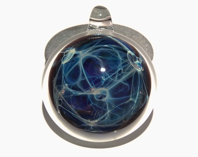 Blue Tesla Spirit Pendant - Handmade Unique Gift - Borosilicate Glass Pendant - A One of a Kind Gift Idea - Top 5 Gift ideas 2019 - Quality
