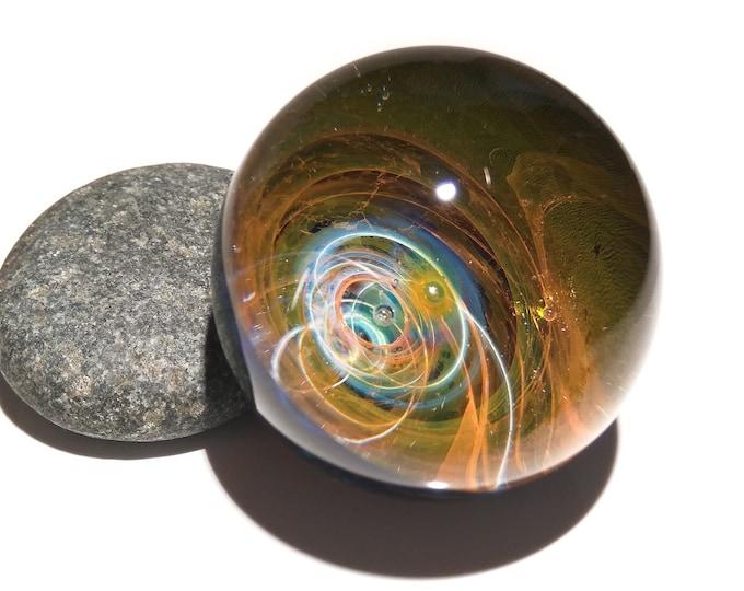 Paperweight - Vortex Solar System - Galaxy Glass - Universe - Blown Glass - Home Decor - Handmade Gift - Borosilicate - Art - Gift - Science