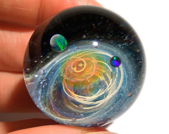 The Newest Galaxy in the Universe - Cosmic Glass Art - Art glass - Opal Planet - Galaxy in Glass - Blown Glass Decor - Unique Space Gift -