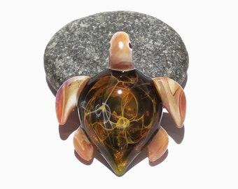 Miniature Turtle - Sea Turtle - Heady Glass - Handmade - Turtle Jewelry - Turtle Jewelry Gift - Beach Jewelry - Boro Focal Bead - Heady!