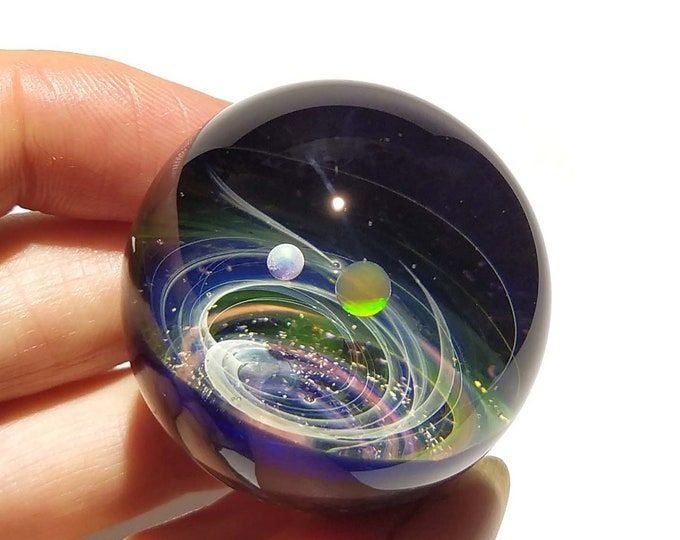 Solar System Gift - Real Opal Planets - Unique Space Decor - Space and Planets Within - Unique Desk Accessory - Cosmic Gift Idea - Universe