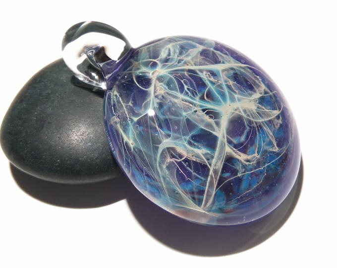 Heady Universe - Purple Vortex - Boro - Blown Glass Pendant - Lampwork - Glass Jewelry - Free Shipping - Heady Glass - Ready to ship!!