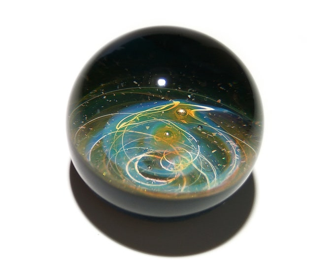 Paperweight - Glass Art - Sun Solar System - Galaxy - Universe - Blown Glass - Home Decor - Handmade Gift - Borosilicate - Gift - Science