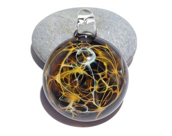 Blown Glass Pendant - Rainbow Neuron - Neurology Gift - Trending Now Art - Science Jewelry - Brain - Best Seller - Necklace - Neuroscience