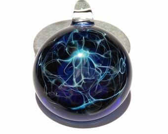 Blue Tesla Spirit Pendant - Handmade Unique Gift - Borosilicate Glass Pendant - A One of a Kind Gift Idea - Top 5 Gift ideas 2019 - Quality