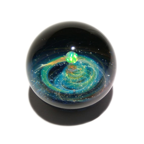A New Galaxy in the Universe - Cosmic Glass Art - Art glass - Opal Planet - Galaxy in Glass - Blown Glass Decor - Unique Space Gift -
