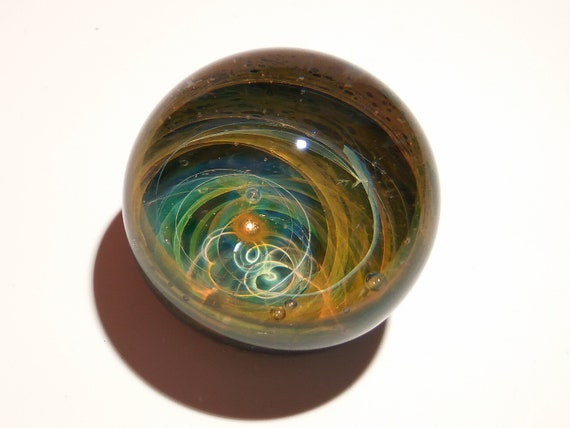Paperweight - Glass Art - Bright Star - Galaxy - Universe - Blown Glass - Home Decor - Handmade Gift - Borosilicate - Gift for Him -Science