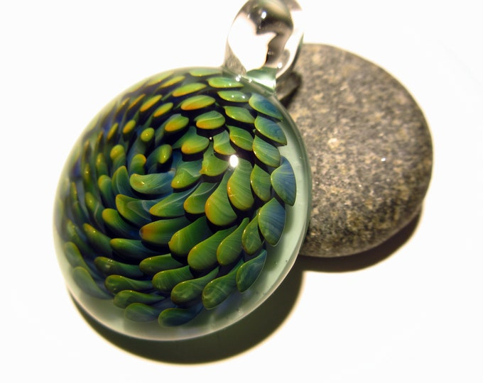 Blown Glass Necklace Pendant - Handcrafted Borosilicate - Glass Art - A Unique Pendant - Blown Glass Jewelry  - Gift Idea - Blue Glass