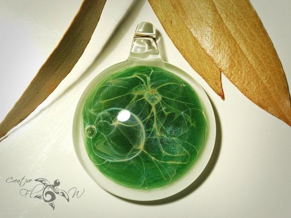 Glass Pendant - Sacred Spruce Pendant - Glass Nacklace - Glass Art - Unique Bead - Blown Glass Jewelry - Boro Pendant - Universe Filament