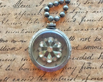 Vintage Pocket Watch Necklace
