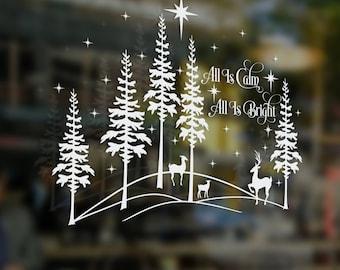 All Is Calm Christmas SVG Art