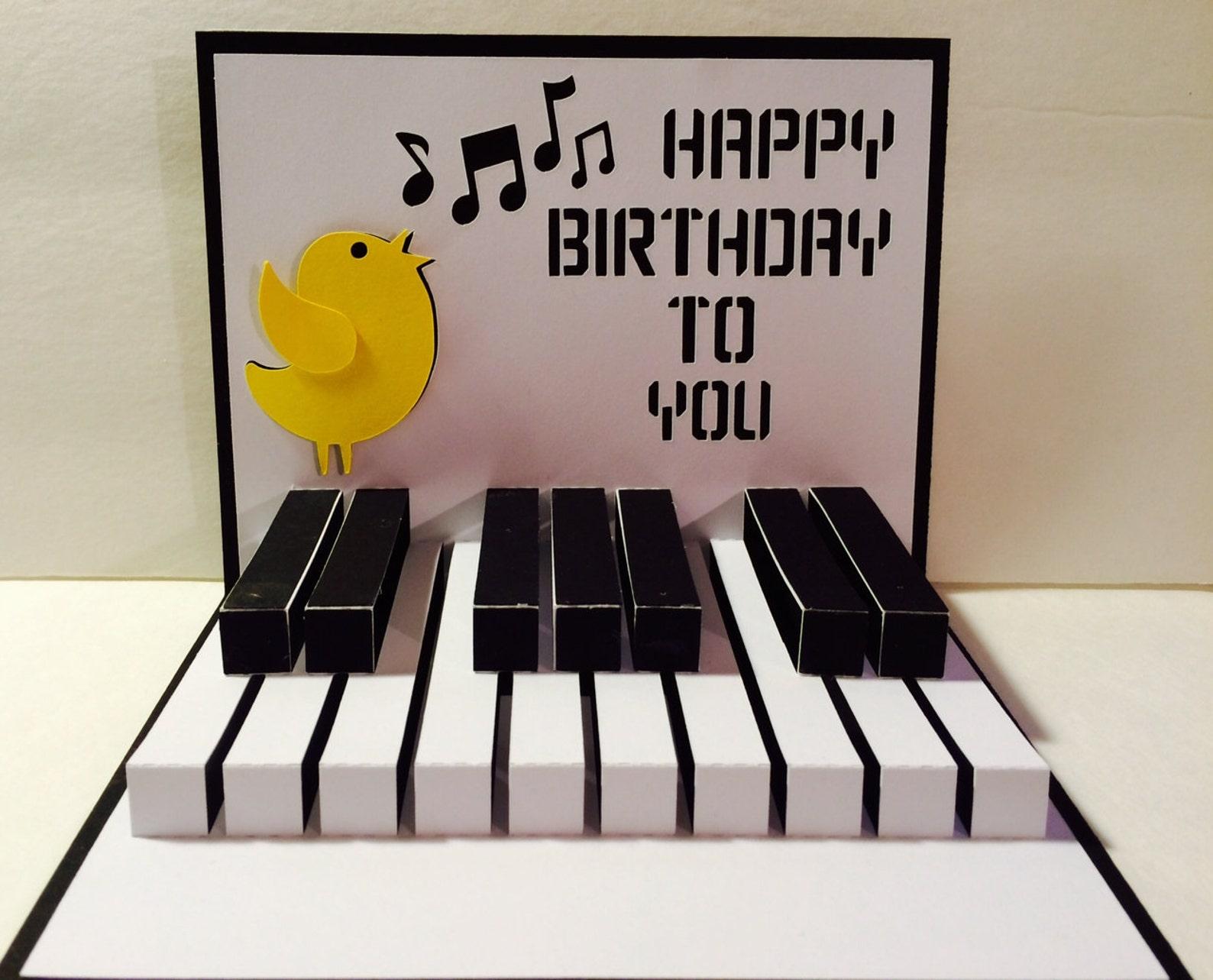Открытки с пианино поздравительные открытки, линий