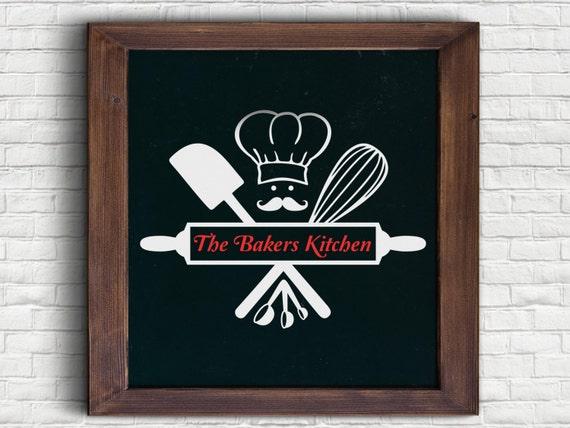 The Bakers Kitchen Art SVG | Etsy