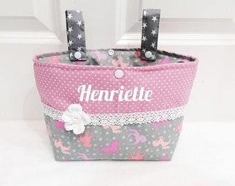 Handlebar bag wheel bag, on request with name