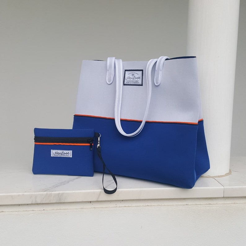 2a033fdab0 FREE SHIPPING Greek Island neoprene beach bag travel pouch