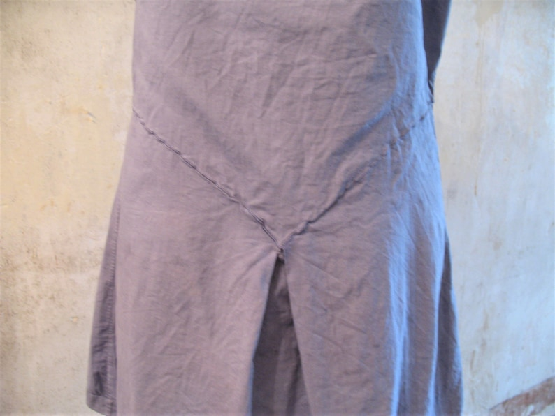 Antique French chemise dress made of soft cotton lawn which I have dyed a /'washed indigo/' colour with spaghetti straps and broderie anglais