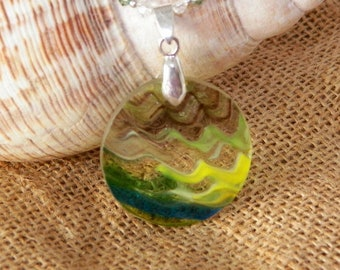 One of a kind  Oregon handblown glass necklace.