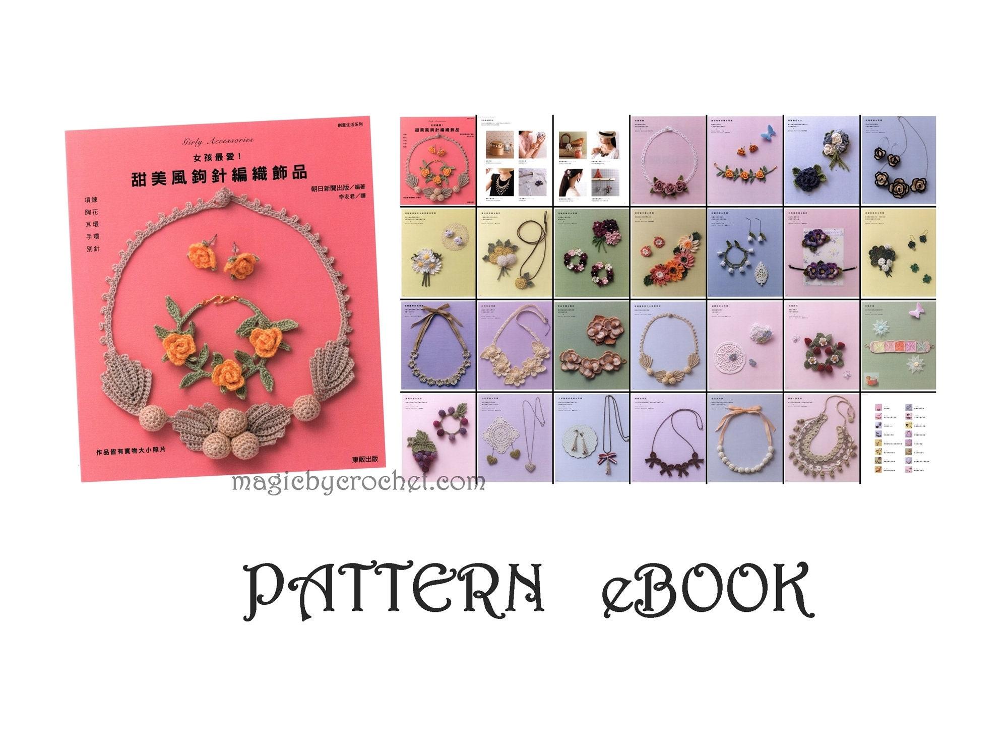 Pdf Crochet Pattern Diagram Ebook Girly Accessories Jewelry No027 Zoom