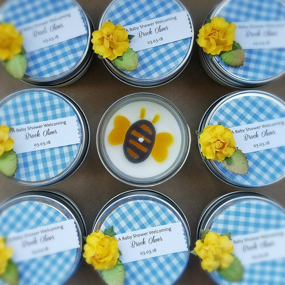 Bumble Bee Baby Shower Boy Baby Shower Gender Neutral Baby Etsy