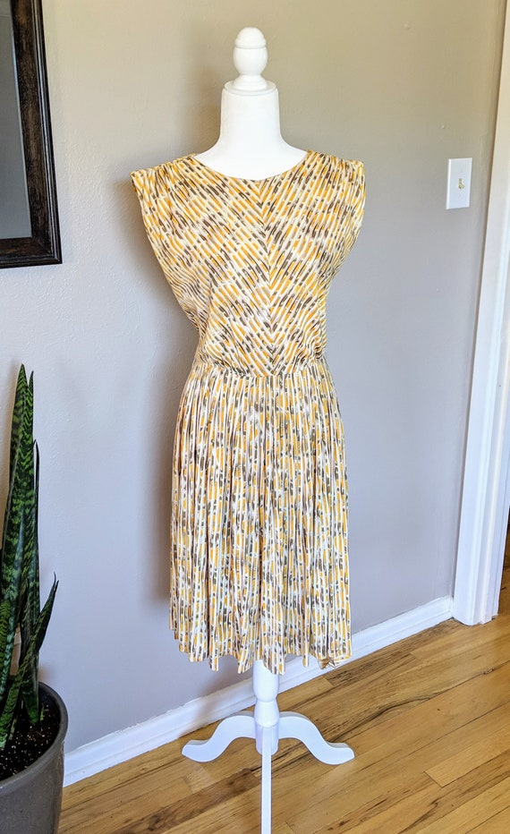 Vintage 1960's Abstract Day Dress