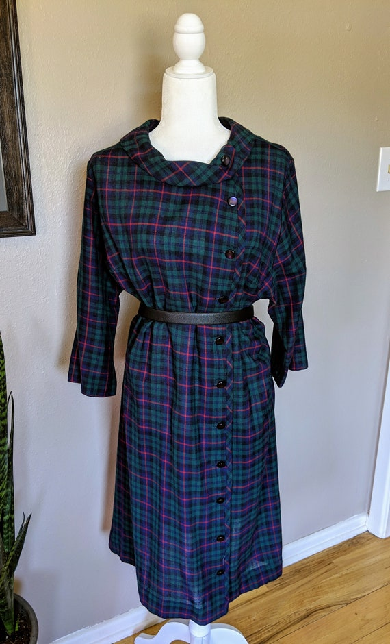 1950-1960's Volup Wool Dress - image 1