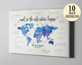 Watercolor world map etsy popular items for watercolor world map gumiabroncs Gallery