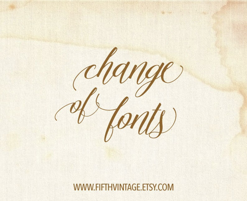 Change of Fonts
