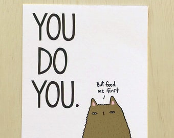 You Do You Postcard // Motivational Postcard // Celebrate Yourself Postcard