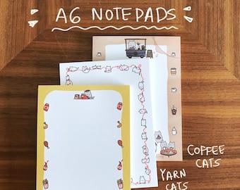 Cute Cat Notepad // Cat A6 Notepad