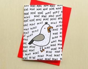 All Mine Card // Seagull Love Card // Silly Seagull Love Card