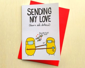 Covid Love Card // Sending My Love card // Missing You Card