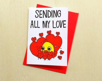 Covid Love Card // Sending All My Love card // Missing You Card