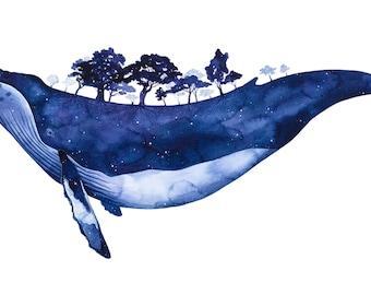 Whaleborne A3 giclee print