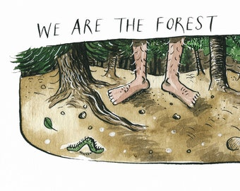 We Are The Forest A3 giclee print