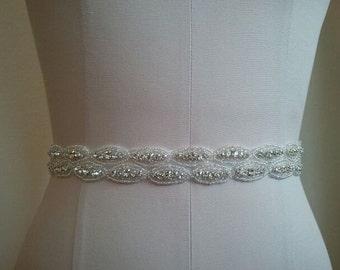 Wedding Belt, Bridal Belt, Bridesmaid Belt, Bridesmaid Belt, Crystal Rhinestone - Style B1107