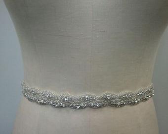 SALE - Wedding Belt, Bridal Belt, Sash Belt, Crystal Rhinestone Belt- Style B175