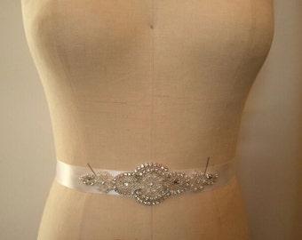 Wedding Belt, Bridal Belt, Bridesmaid Belt, Bridesmaid Belt,, Crystal Rhinestone - Style B141