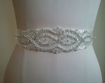SALE - Wedding Belt, Bridal Belt, Bridesmaid Belt, Bridesmaid Belt, Crystal Rhinestone - Style B1104