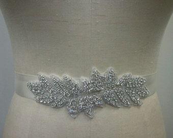 SALE - Wedding Belt, Bridal Belt, Bridesmaid Belt, Bridesmaid Belt, Crystal Rhinestone - Style B233