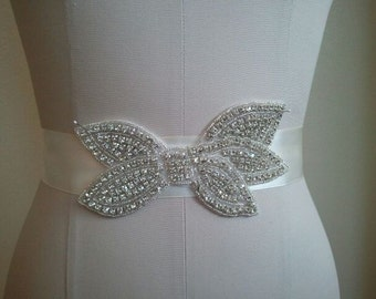 Wedding Belt, Bridal Belt, Bridesmaid Belt, Bridesmaid Belt, Crystal Rhinestone - Style B1105