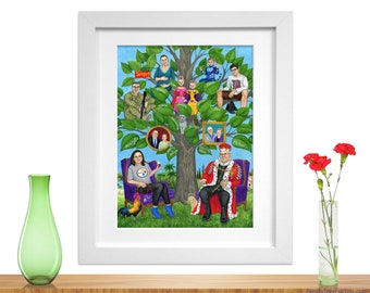 50th Birthday Gift Wife Husband Our Story Personalized Family Tree Wall Art Makes A Creative