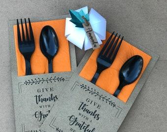 Thanksgiving Utensil Holder