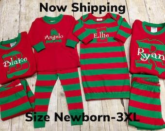 cdf19827ba Matching Christmas Pajamas  Christmas Pajamas  Family Christmas PJs  Monogrammed  Pajamas  Holiday Pajamas  Matching PJ s- SIZE NB-3XL