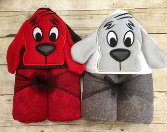 a0a961512bb Clifford the Big Red Dog Hooded Towel  Clifford Birthday  Infant Costume   Baby Hooded Towel  Pool Party  Beach Towels  Pool Towel  3D Towel