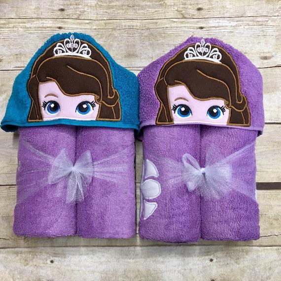 Kids Bath Towel Monogrammed Towel Sophia Monogrammed Full Size Hooded Bath Towel Kids Birthday Gift personalized Spa Party Sophia the