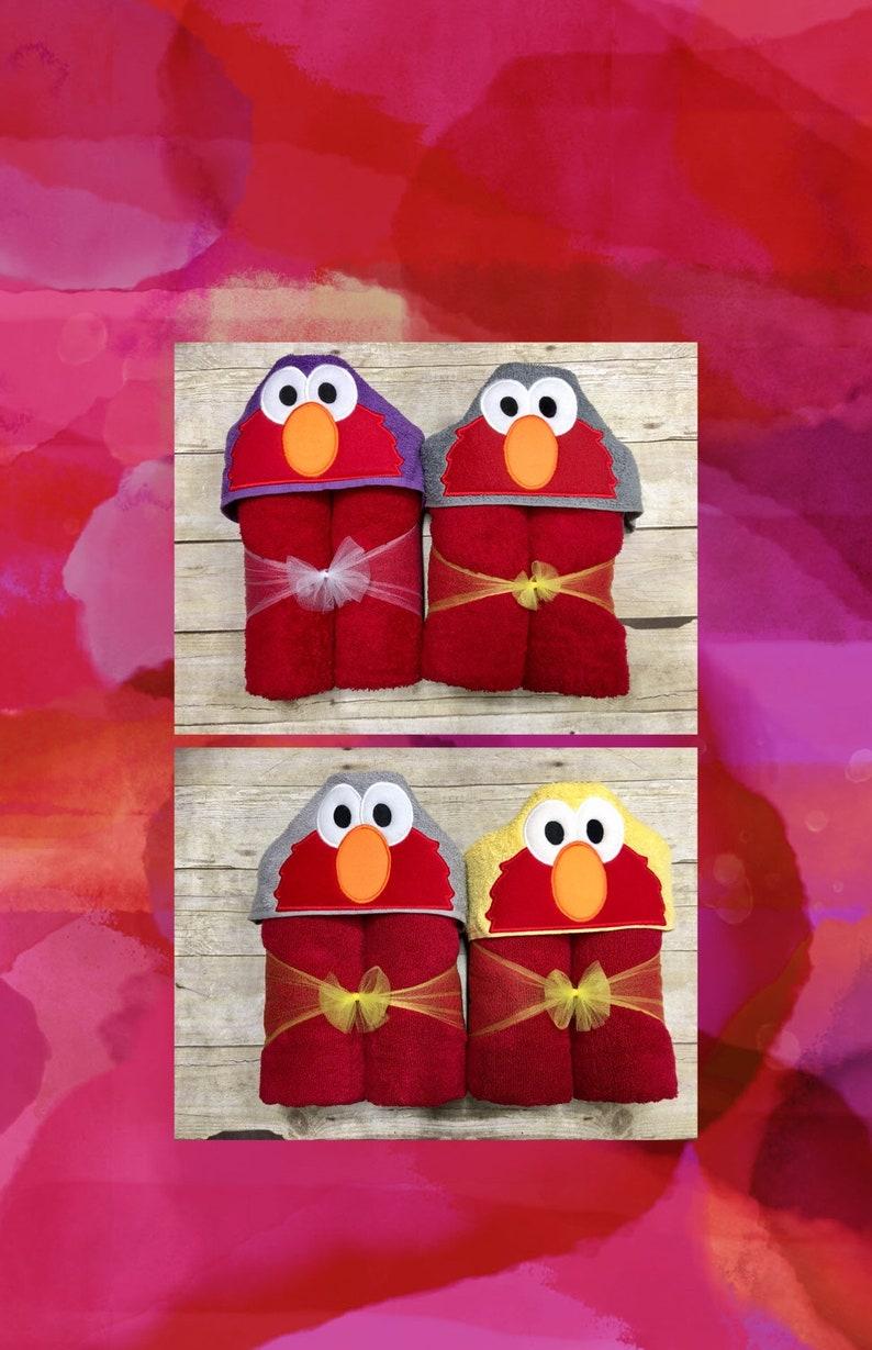 Elmo Hooded Towel  Sesame Street Hooded Bath Towel  Cookie  f3d3dc1a8bc9