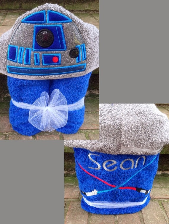 Star wars r2d2 inspired hooded towel r2d2 costume star wars solutioingenieria Images
