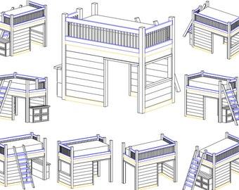 Playhouse Loft Bed Instruction Set (Digital Copy)