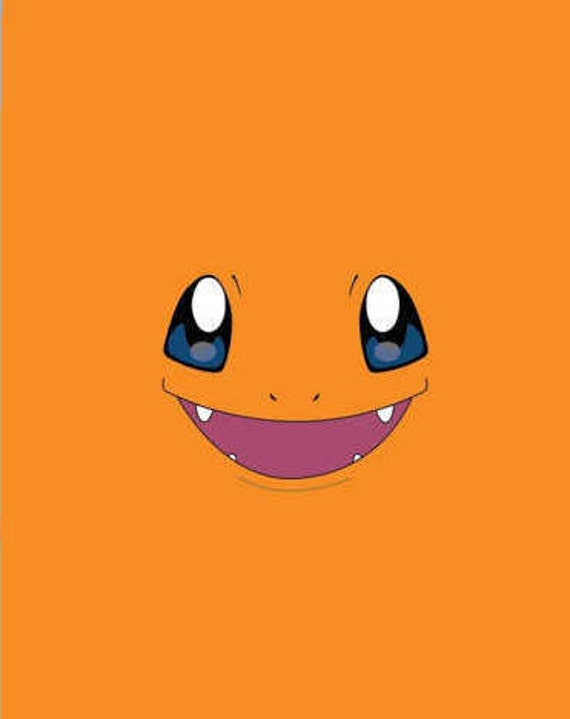 Pokemon Immitation Charmander Gesicht Grafik Digitaler Etsy